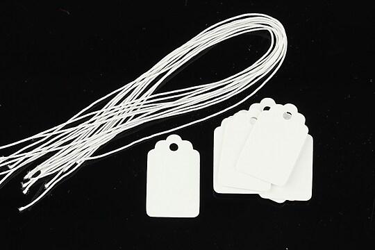 Etichete albe simple 25x15mm (10buc.)