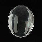 Cabochon de sticla transparenta pentru fundal personalizat 45x35mm