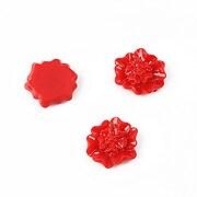 Cabochon rasina floare 12mm - rosu