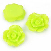 Cabochon rasina trandafir 19mm - verde deschis
