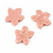 Cabochon rasina floare 17x18mm - rose blush
