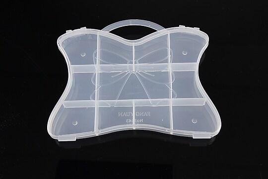 Cutie plastic pentru margele gentuta cu 11 compartimente 10,5x14,8x1,9cm