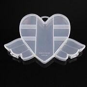 Cutie plastic pentru margele inima cu 9 compartimente 12x17,5x2cm