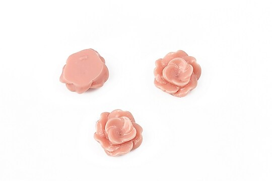 Cabochon rasina floare 13mm - rose blush