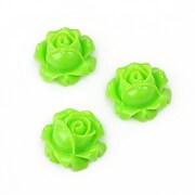 Cabochon rasina trandafir 15mm - verde