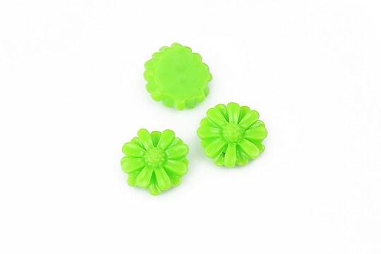 Cabochon rasina margareta 13mm - verde