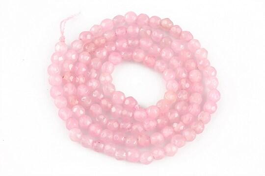 Sirag cuart roz sfere fatetate 3mm