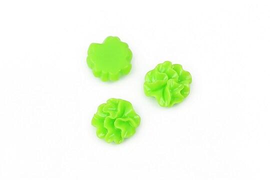 Cabochon rasina garoafa 11mm - verde