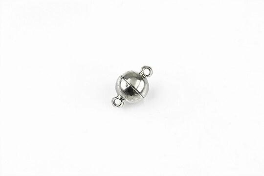 Inchizatoare magnetica argintiu inchis 12x7mm