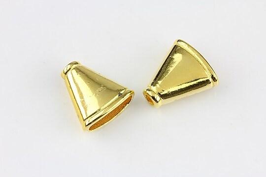 Capacele margele auriu 17x15mm