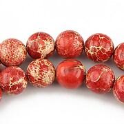 Regalite rosu sfere 10mm