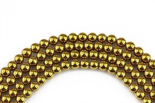 Hematit sfere auriu inchis 4mm (10 buc.)
