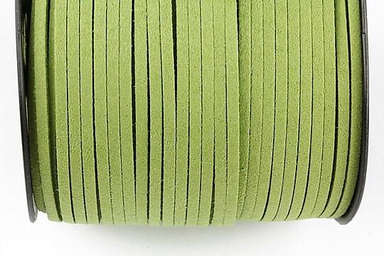 Snur suede (imitatie piele intoarsa) 3x1mm (1m) - verde deschis
