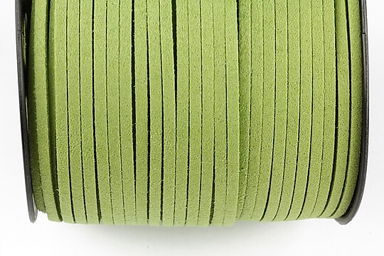 Snur suede (imitatie piele intoarsa) 3x1mm (5m) - verde deschis