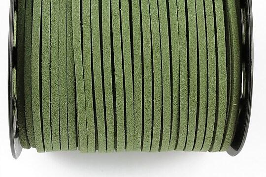 Snur suede (imitatie piele intoarsa) 3x1mm (1m) - verde militar