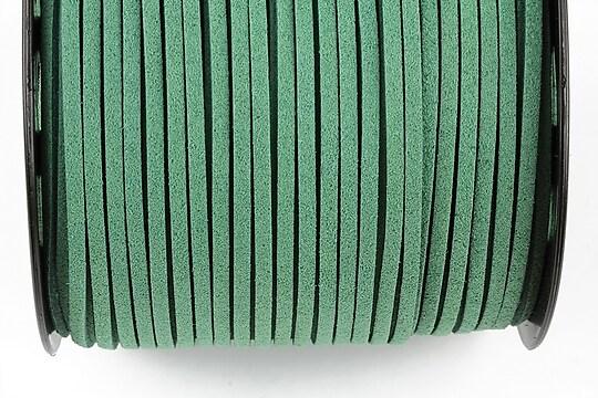 Snur suede (imitatie piele intoarsa) 3x1mm (1m) - verde