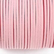 Snur suede (imitatie piele intoarsa) 3x1mm (5m) - roz deschis