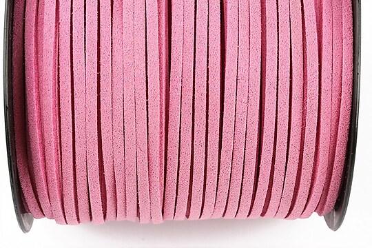 Snur suede (imitatie piele intoarsa) 3x1mm (5m) - roz