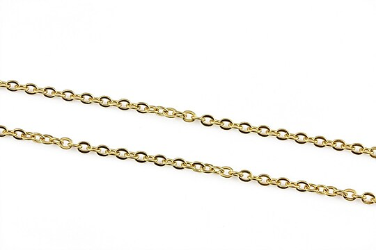 Lant otel inoxidabil 304 auriu, zale 2,5x2x0,5mm (49cm)