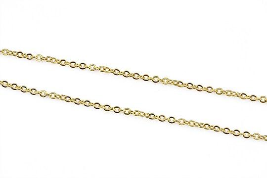 Lant otel inoxidabil 304 auriu, zale 2x1,5x0,2mm (49cm)