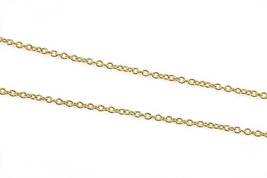 Lant otel inoxidabil 304 auriu, zale 2x1,5x0,4mm (49cm)