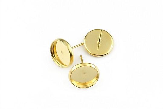 Tortite cercei otel inoxidabil 304 auriu cu interior 10mm (2 buc.)