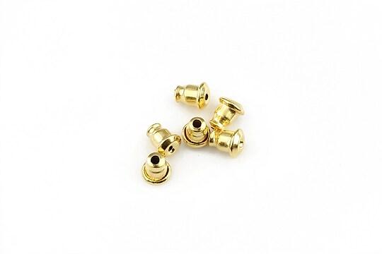 Stoppere (dopuri) cercei otel inoxidabil 304 auriu 5,5x5mm (2 buc.)