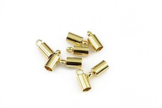 Capat snur otel inoxidabil 304 auriu 9x4mm, interior 3mm