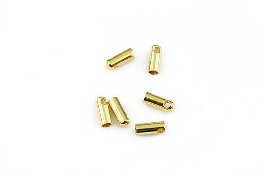 Capat snur otel inoxidabil 304 auriu 7,5x3mm, interior 2mm