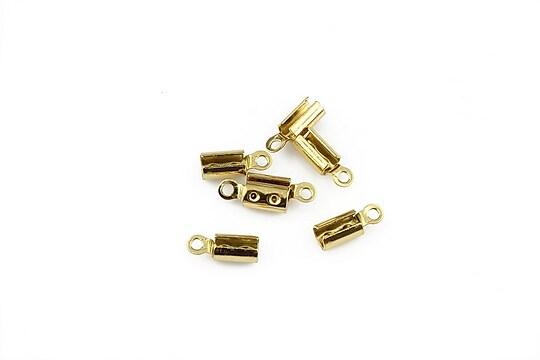 Capat snur otel inoxidabil 304 auriu 8,5x3mm