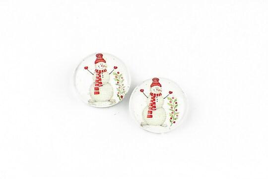 "Cabochon sticla 14mm ""Christmas"" cod 1375"