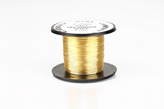 Sarma de modelaj GILT, non tarnishing, grosime 0,2mm, rola 175m