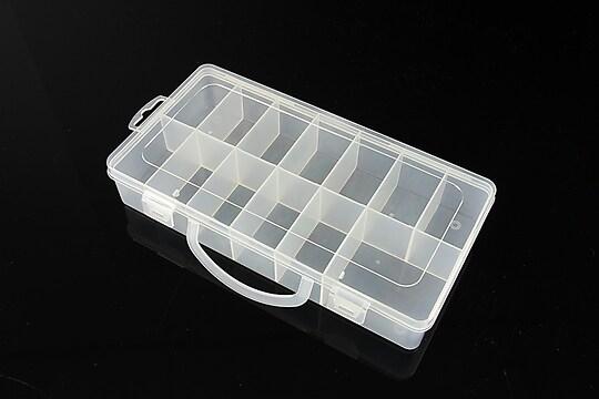 Cutie plastic pentru margele cu 13 compartimente 23,5x12x4,1cm