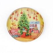 "Cabochon sticla 30mm ""Christmas"" cod 1421"