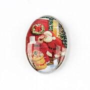 "Cabochon sticla 30x20mm ""Christmas"" cod 1445"