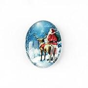 "Cabochon sticla 25x18mm ""Christmas"" cod 1435"