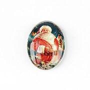 "Cabochon sticla 25x18mm ""Christmas"" cod 1436"