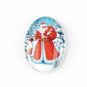 "Cabochon sticla 30x20mm ""Christmas"" cod 1443"