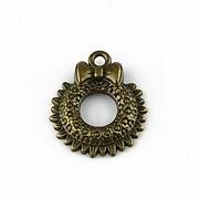 Charm bronz coronita de Craciun 24x20mm