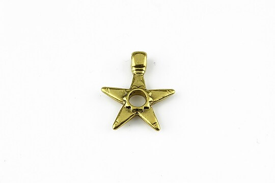 Charm auriu stea 19x17mm