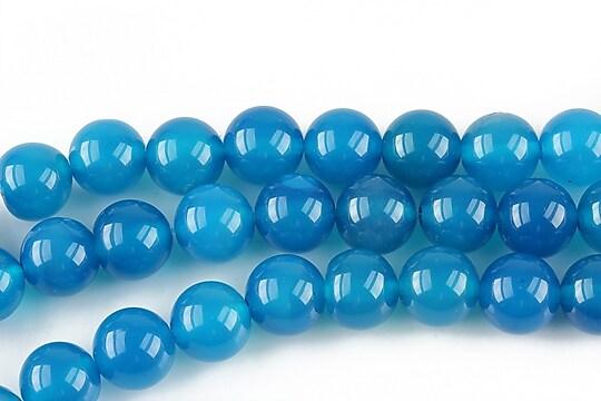 Agate sfere 8mm - albastru