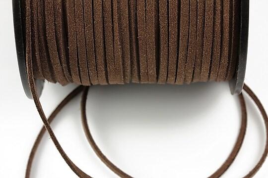 Snur suede (imitatie piele intoarsa) 3x1mm, maro (5m)