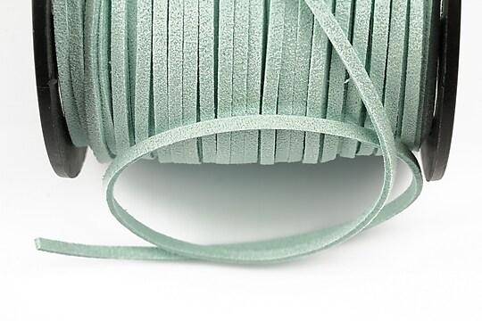 Snur suede (imitatie piele intoarsa) 3x1mm, turcoaz deschis (5m)