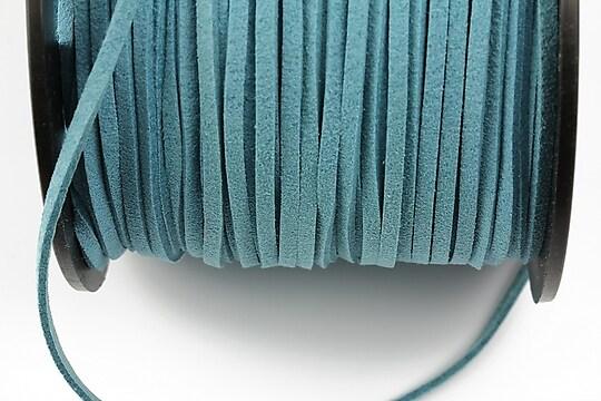 Snur suede (imitatie piele intoarsa) 3x1mm, turcoaz inchis (5m)