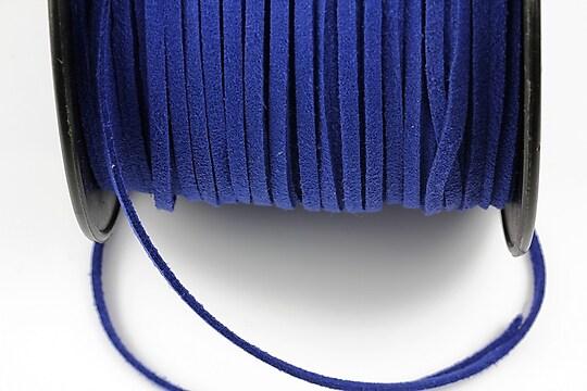 Snur suede (imitatie piele intoarsa) 3x1mm, albastru cobalt (5m)