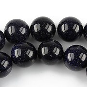 Blue Goldstone sfere 12mm