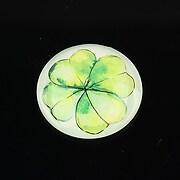 "Cabochon sticla 25mm ""Spring"" cod 1438"
