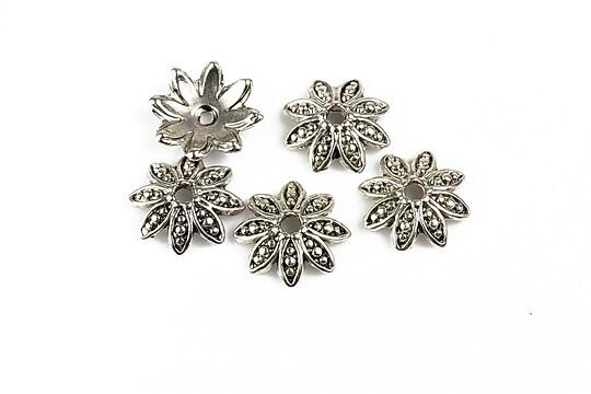 Capacele margele argint tibetan 14mm