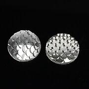 Cabochon rasina solzi de sirena 16mm - argintiu