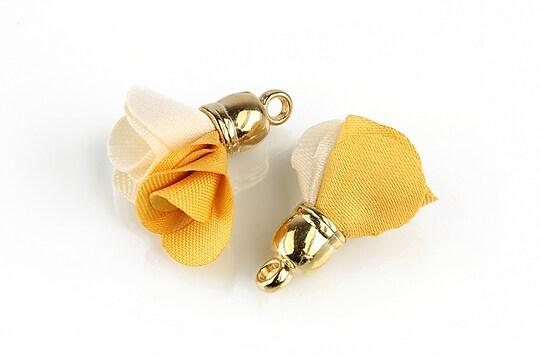 Pandantiv material textil si agatatoare aurie 24~26x16~18mm